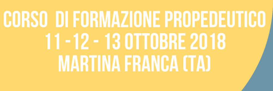 2° CORSO DI FORMAZIONE IAA 2018 – MARTINA FRANCA (TA)