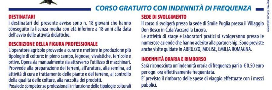 """Corso gratuito """"Operatore Agricolo"""""""